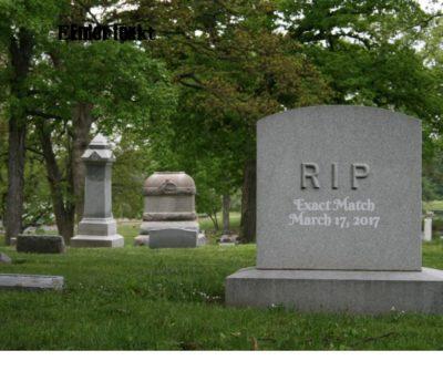 Exact Match gravestone