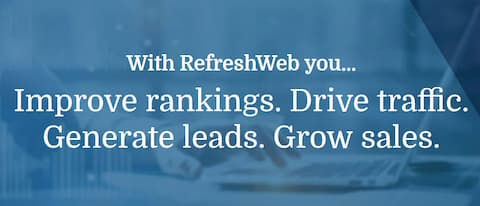 Graphic: Drive traffic and generate leads with RefreshWeb